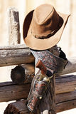 Hat and gun Stock Images