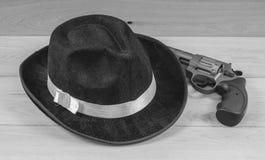 Hat and gun Royalty Free Stock Image