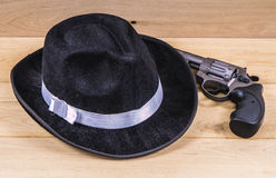 Hat and gun Stock Photography