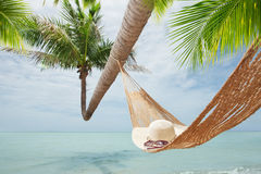 Hat and hammock Stock Image