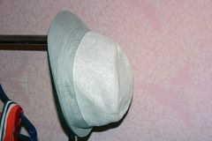 Hat on a hanger stock image