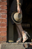 Hat and high heels shoe Stock Image