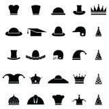 Hat icon set Stock Image