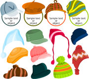 Hat icon set Royalty Free Stock Photo