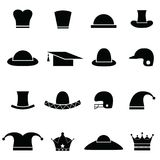 Hat icon set Royalty Free Stock Image