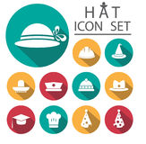 Hat Icon Set.Vector Illustration Royalty Free Stock Images