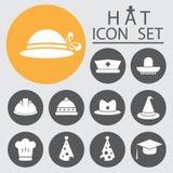 Hat Icon Set.Vector Illustration. Stock Photos