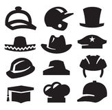 Hat icons Royalty Free Stock Photos