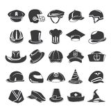 Hat icons Royalty Free Stock Photo
