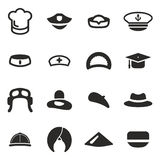 Hat Icons Set 1 Royalty Free Stock Images