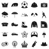 Hat icons set, simple style Royalty Free Stock Photography