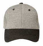Hat isolated on white background. Hat with black visor.gray hat.  Stock Images