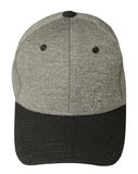 Hat isolated on white background. Hat with black visor.gray hat.  Royalty Free Stock Photos