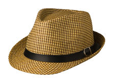 Hat  isolated on white background .hat with a brim .brown ha Royalty Free Stock Photography