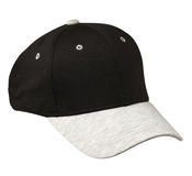 Hat isolated on white background. Hat with  gray visor.black ha. T Royalty Free Stock Images