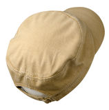 Hat isolated on white background. Hat with a visor . beige hat. Hat isolated on white background. Hat with a visor.beige hat Royalty Free Stock Photo