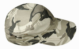 Hat isolated on white background. Hat with  visor.military hat.  Stock Photos