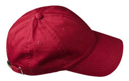 Hat isolated on white background. Hat with a visor.red hat.  Stock Photo