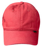 Hat isolated on white background. Hat with a visor . red hat. Hat isolated on white background. Hat with a visor. red hat Stock Image