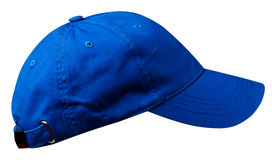 Hat isolated on white. Background. Hat with a visor. blue hat Royalty Free Stock Photography