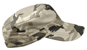 Hat isolated on white. Background. Hat with a visor.military   hat Royalty Free Stock Images