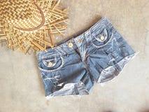 Hat jean summer beach hot fashion Royalty Free Stock Image