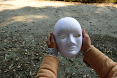 Hat jeder hier eine Maske? selbstverständlich Lizenzfreies Stockfoto