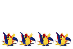 Hat Joker in a row on white background Stock Images