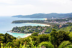 Hat Kata Karon Viewpoint in Phuket island Royalty Free Stock Images