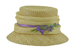 Hat with Lavender trim Royalty Free Stock Photography