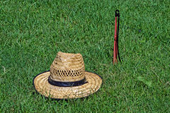 Hat on the lawn background Stock Image