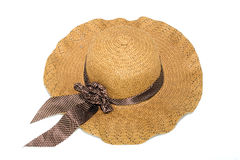 Hat,made from bamboo on white background Stock Photo