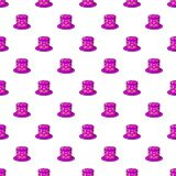 Hat of magician pattern, cartoon style. Hat of magician pattern. Cartoon illustration of hat of magician pattern for web Royalty Free Illustration