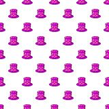 Hat of magician pattern, cartoon style Stock Photography