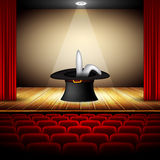 Hat magician on stage Royalty Free Stock Photo