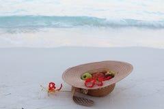 Hat in Maldives Stock Photo