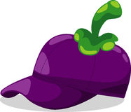 Hat mangosteen fantasy party vector Stock Photography