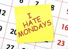 hat mig måndagar arkivbild
