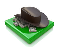 Hat and money Stock Photography