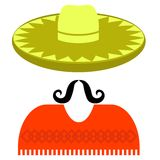 Hat Mustache Stock Image