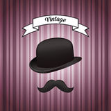 Hat and mustache Royalty Free Stock Photography