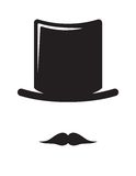 Hat and mustache Royalty Free Stock Image