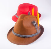 hat or oktoberfest bavarian hat on a background. Royalty Free Stock Images