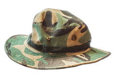 Hat old. Hat camouflage is old for vintage Royalty Free Stock Photography