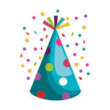 Hat party isolated icon. Vector illustration design royalty free illustration