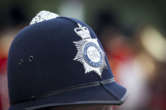 Hat of a police man in London. An image of a hat of a police man in London Stock Photography