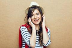 hat portrait wearing woman young Στοκ φωτογραφίες με δικαίωμα ελεύθερης χρήσης