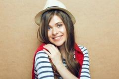 hat portrait wearing woman young Στοκ φωτογραφία με δικαίωμα ελεύθερης χρήσης