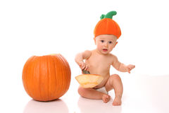 Hat pumpkin baby Royalty Free Stock Images