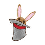 Hat rabbit magic show drawing Royalty Free Stock Images
